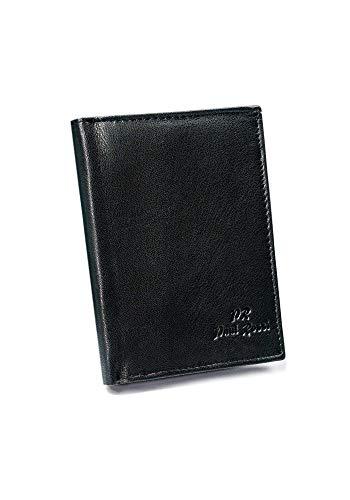 BOLF Hombre Cartera de piel Cuero Monedero Portamonedas Bolsita Marroquinería Accesorio PAUL ROSSI N4-GTN-RFID Negro OS [1W1]