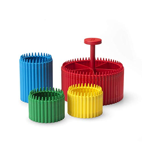 Room Copenhagen Crayola Ultimate Desk Organizer 4-Piece Set -1 Pencil Cup, 2 Crayon Cups, and 1 Round Organizer - Colorful Holders to Store Art and Stationery Supplies for Home/School/Office