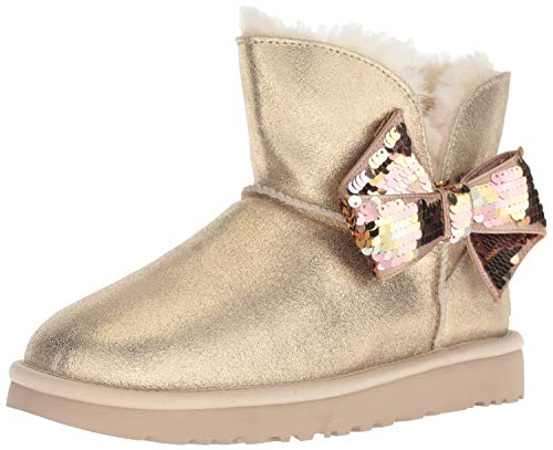 UGG - Stivali Mini Sequin Bow - Gold, Taglia:41 EU