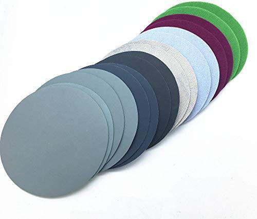 FQD&BNM Schleifpapier 20ps 74-80mm Wasserschleifpapier 3inch Körnung 800-3000 Schleifscheiben Klettschleifpapier Rundschleifpapier Scheibenschleifblatt