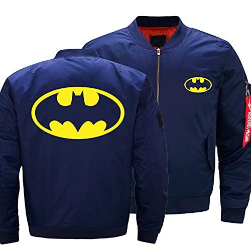 Night K Veste Homme 3D Batman Impression légère décontractée Pleine Veste zippée Baseball vêtements de Sport extérieur Manteau Militaire C-XX-Large