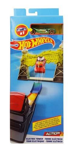 Pista E Veículo - Hot Wheels - Track Builder - Torre Elétric