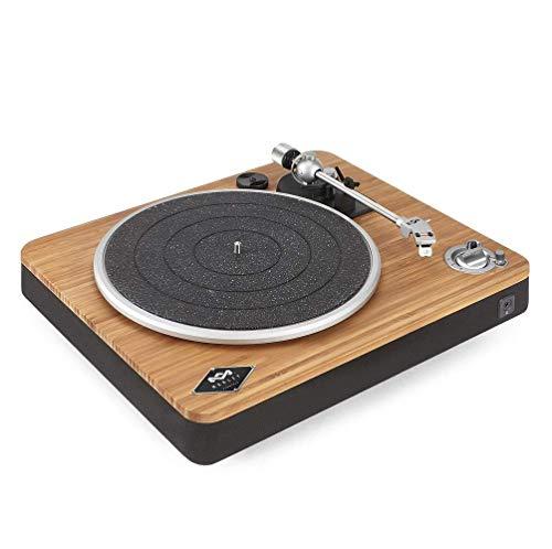 House of Marley Stir It Up EM-JT002-SB Giradischi Bluetooth Wireless, 45/33 Giri, Piatto Lega di Alluminio, Braccio in Metallo Rigido, Cartuccia MM Audio-Technica