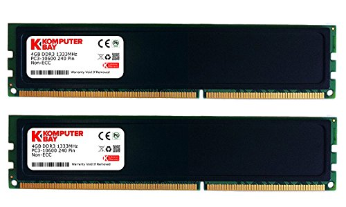 Komputerbay - Módulo de Memoria RAM (DDR3, 1333MHz, 3 Unidades) 8GB (2 X 4GB) w/HS