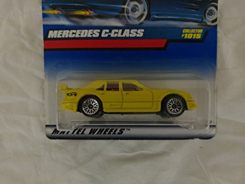 Hot Wheels Mattel 1999 1:64 Scale Yellow Mercedes C-Class Die Cast Car Collector #1015