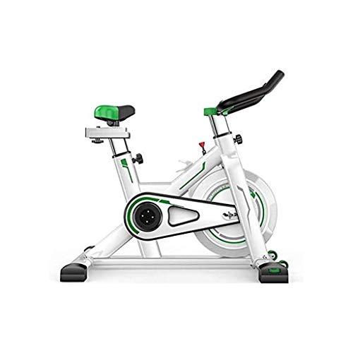 MGIZLJJ Bicicleta eléctrica Vuelta de la Bici de Interior Ciclos de la Bicicleta estática Estudio de Ejercicio máquinas de Cardio Entrenamiento Ajustable (Color : Green)