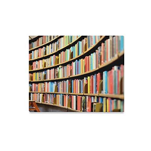 ZANSENG Leinwanddrucke Wandkunst Rundes Bücherregal Öffentliche Bibliothek Gerahmte Leinwand Wand Arthome Kunstwerk Dekoration für Wohnzimmer, Wandkunst für Schlafzimmer 20