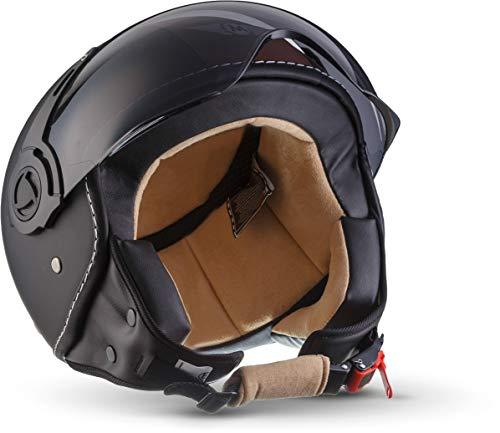 Moto Helmets H44 - Helmet Casco de Moto, Negro/Vintage Negro, M (57-58cm)