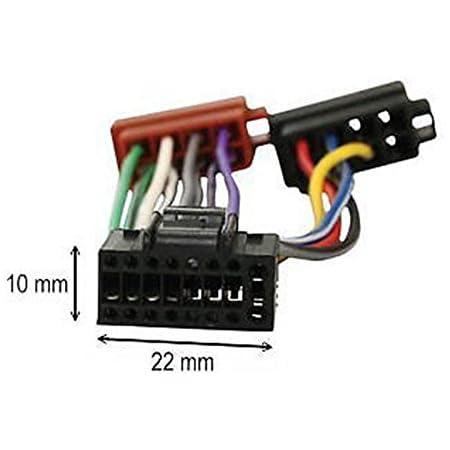 Kabel Adapter Stecker Iso Für Kenwood Autoradio 16 Pins Auto