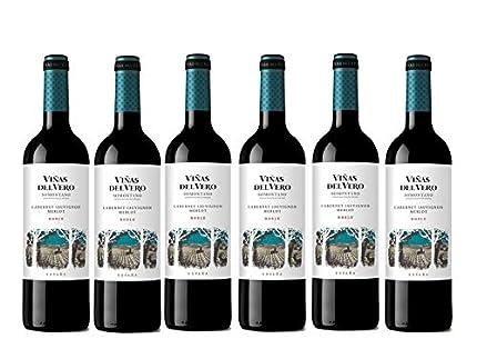 Viñas Del Vero Tinto Cabernet-Merlot - Vino D.O. Somontano - 6 botellas x botellas de 750 ml - Total: 4500 ml