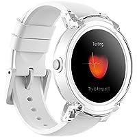 Ticwatch E Express - Reloj inteligente con pantalla táctil OLED, resistente al agua y compatible con iOS y Android, sistema Android Wear 2.0, color blanco