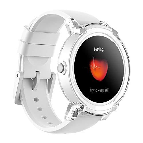 Ticwatch E Ice Smartwatch Intelligente Armbanduhr mit 1,4 Zoll OLED-Display, Android Wear 2.0, Sportuhr Hochwertig Kompatibel mit Android und ios Geeignet für Die Meisten Typen von Smartphone