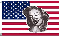 国旗 マリリン?モンロー マリリン モンロー アメリカ合衆国 米国 星条旗 特大フラッグ【EUC】