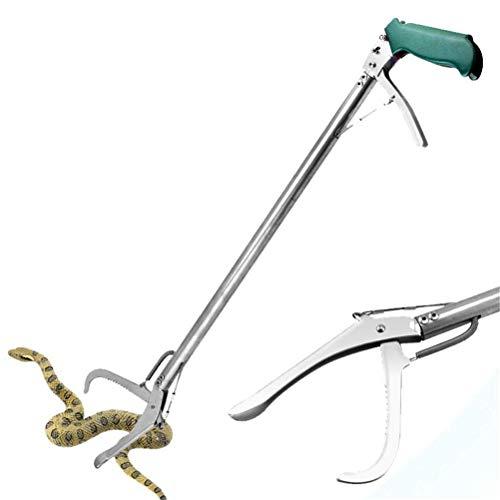 Dbtxwd Schlangenzange, Edelstahl-Hochleistungsschlangenzange Mit Selbstsperrfunktion, Schlangenfangklemme, Reptilienfangstift,120cm