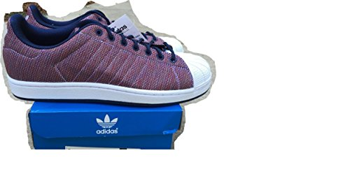 Adidas Originals Men's Superstar Woven Shell Toe Fashion Sneakers Collegiate Navy/Red/White 10.5 D(M) US