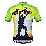 Herren Radtrikot Kurzarm Outdoor Pro Biken Riding Bekleidung Mountainbike Trikots Atmungsaktiv Totenkopf T-Shirt Tops - - 3XL (Brust 127/134 cm)