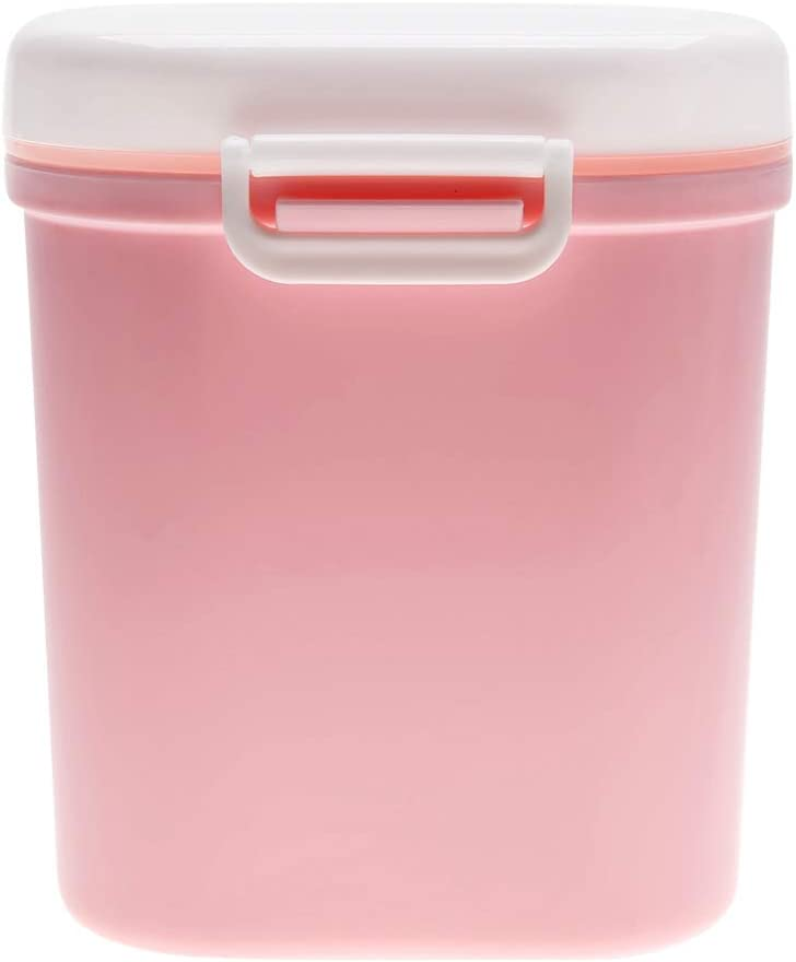 Plyisty Portable Formula Milk Powder Dispenser Baby Storage Snack Candy Box Container(Pink, Large)