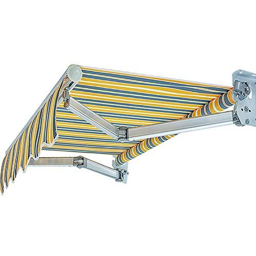 LWH Toldo de Sol,marquesina,Parasol,expansión Manual Impermeabilización y protección Solar Cortavientos Resistente a los Rayos UV 150X150CM