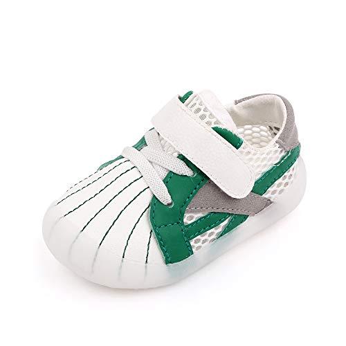 Cheerful Mario Kinder Lauflernschuhe Babys Schuhe Mädchen Jungen Flach Anti-Rutsch Hausschuhe Grün 21 EU