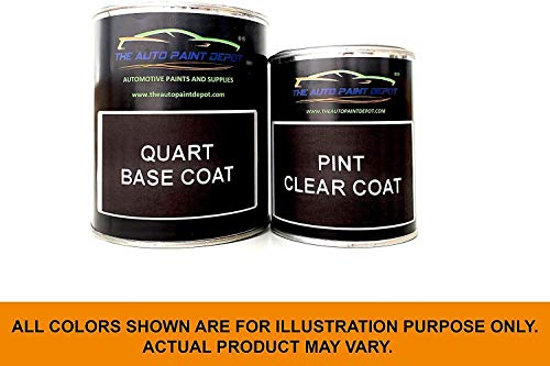 Auto Paint Depot Touch Up Paint for Scion tC, xA-Flint Mica 1E0 (All Years) One Quart with Clear Coat