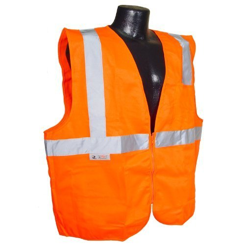 Radians SV2ZOS3 x Polyester Solid Knit Economy Class 2 High Visibility Vest con Chiusura a Zip, 3 x -Large, Orange by Radians