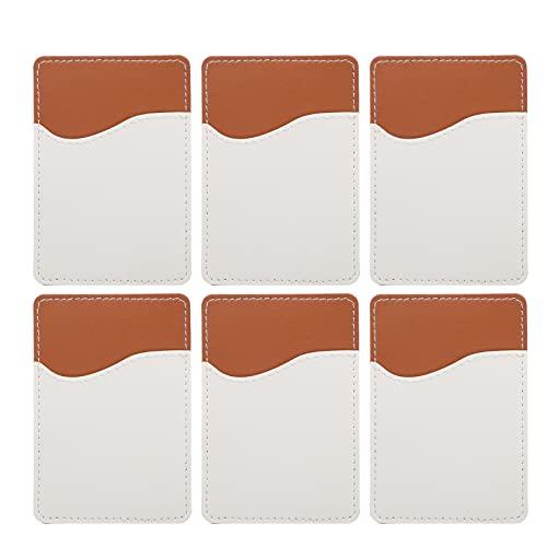 WINOMO 6 Sets Telefoon Pocket Portemonnee Sublimatie Telefoon Card Pocket Credit Card Id Case Pouch Sleeve…