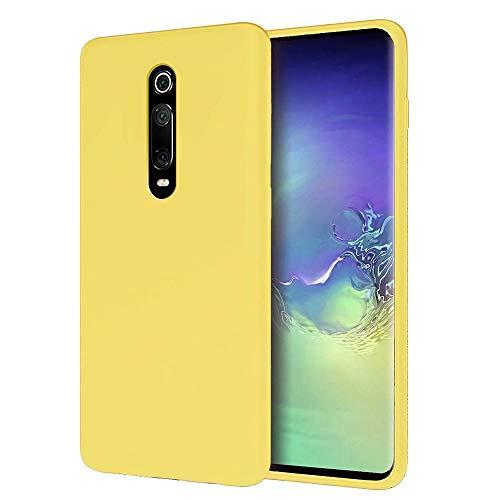 MUTOUREN Funda Xiaomi Redmi K20/K20 Pro/Mi 9T/Mi 9T Pro - Carcasa de TPU para teléfono móvil - Ultra Delgado TPU Silicona Flexible Cover Protectora Gel Suave Bumper Case (Amarillo)