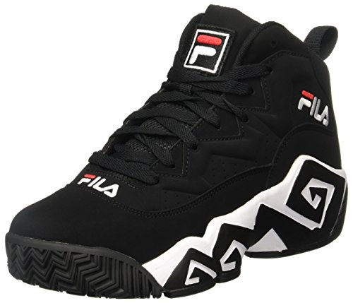 Fila Men's MB Fashion Sneaker, Black/White Red, 11 M US