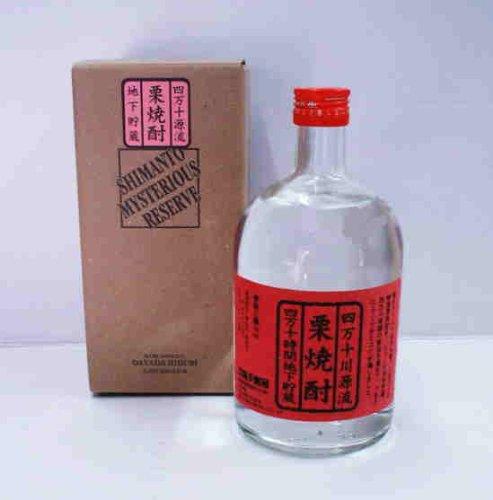 無手無冠『栗焼酎原酒 四万十ミステリアスリザーブ ボトル』