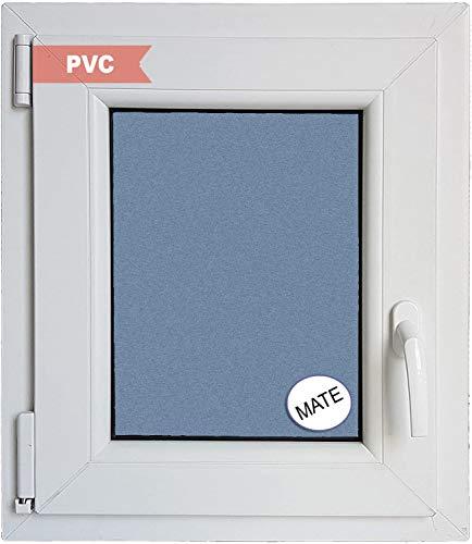 Ventanastock Ventana PVC Practicable Oscilobatiente Izquierda 500 ancho x 600 alto 1 hoja con vidrio Carglass (Climalit Mate)