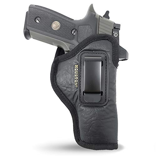 """IWB Optical Gun Holster by Houston - ECO Leather Concealed Carry Soft Material 