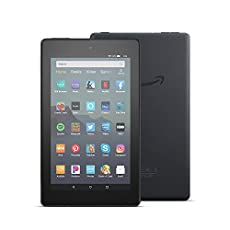 Image of Amazon Kindle Fire Tablet. Brand catalog list of Amazon. It's score is 4.4 over 5.