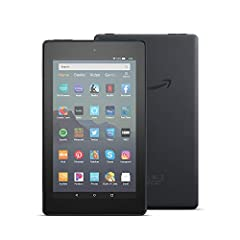 "7"" IPS display; 16 or 32 GB of internal storage (add up to 512 GB with microSD) Faster 1.3 GHz quad-core processor Up to 7 hours of reading, browsing the web, watching video, and listening to music Now Alexa hands-free 1 GB of RAM 2 MP front and rear..."