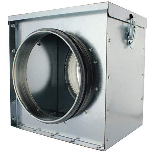 MKK - 18496-006 - Filterkasten Luftfilter Einbaufilter Wickelfalzrohr Staubfilter Abluft Zuluft Filterkasten 250 mm