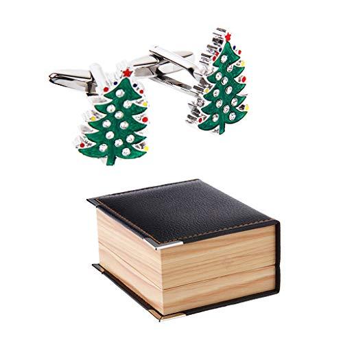 Mens Suit Christmas Tree Santa Claus Winter Cufflinks With Jewlery Gift Box Jewerly Trendy Cuffs Accessory Best Designs Elegant Style Designer Accessories