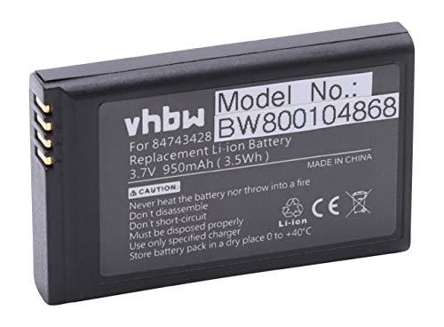 vhbw Akku kompatibel mit Agfeo Dect 50 schnurlos Festnetz Handy (950mAh, 3,7V, Li-Ion)