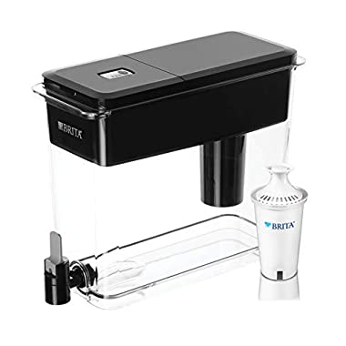 Brita Extra Large 18 Cup UltraMax Water Dispenser and Filter - BPA Free - Black
