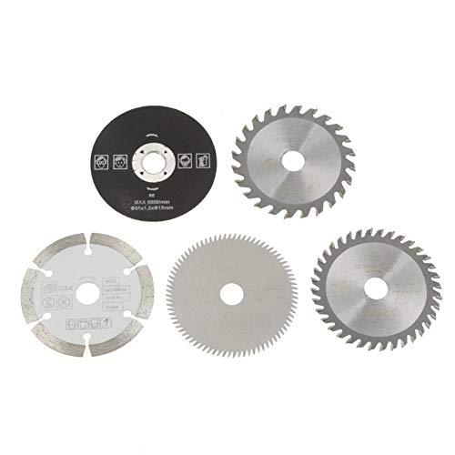 Lama per sega, 5 Pezzi 85mm Diametro interno 15mm Mini lama per sega circolare in metallo duro per macchine da taglio per marmo seghe elettriche seghe circolari