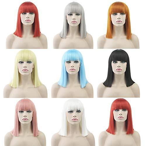 Lace-Perücke, Paragraph, Anime-Perücke, Haarfarbe, Cospoay BoBoBoBo-Kopf, glattes Haar Smoke Pink