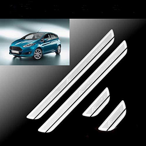 HCJGZ Tiras de Entrada de Acero Inoxidable 4 Piezas adecuadas para Ford Fiesta 2012-2015
