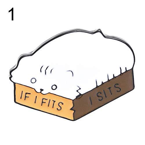 ExhilaraZ Brooches Pins Cute Cartoon Cat Avocado Brooch Pin Denim Jacket Collar Backpack Badge Jewelry