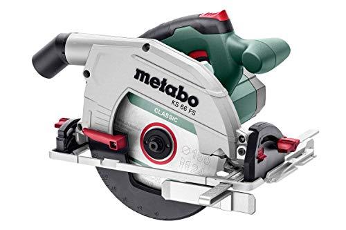 Metabo Handkreissäge KS 66 FS (inkl. Sägeblatt ø 190 mm, 1500 W, mit Schnittanzeiger, Säge schwenkbar 0-47°, Führungsplatte aus Aluminiumdruckguss) 601066000
