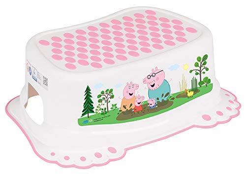 Taburete Escalón Seguro Antideslizantes Bebé Niños Entrenamiento Baño Bebés Orinal - Peppa Pig Rosa