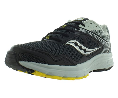 Saucony Men's Cohesion TR10 Trail Runner, Black/Grey/Yellow, 9.5 M US