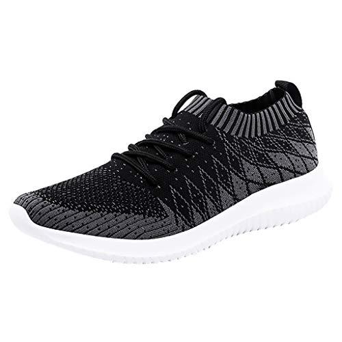 Precioul Laufschuhe Turnschuhe Straßenlaufschuhe Sneaker mit Snake Optik Damen Herren Sportschuhe Slip On Breathable