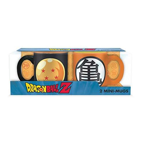 ABYstyle - DRAGON BALL - Set 2 mini-Tazas - 110 ml - Boule cristal y Kame