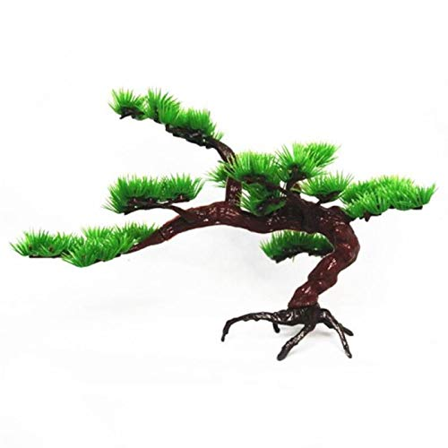 Bonsai Artificial Pine Tree Aquarium Plástico Bonsai Ornamento Tanque De Peces Artificial Pino Planta Decoración Acuario Adorno Decoración (Color : 01)