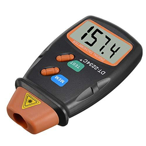 QWERTOUR Durable Digital-Laser-Zähler Meter Berührungslos Tachometer Zähler für Prüfung von Motordrehzahlmesser Werkzeuge