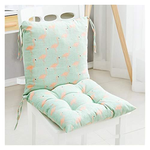 Cojín para silla de comedor para el hogar de 400 mm x 400 mm, silla de comedor engrosada de algodón de invierno con correa cojín antideslizante adecuado para sofá de dormitorio banco de jardín de rest