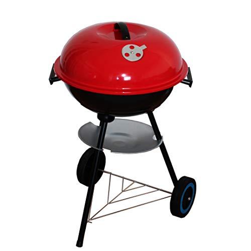 NAWA BBQ Klassischer Grill für ältere Augen, Rot mit Deckel und Stativ mit Rollen 50x44x72 cm rot Wood Pellet Barbecues